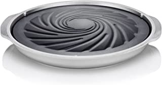 TECHEF - TRUE GRILL PAN - Stovetop Nonstick Indoor/Outdoor Smokeless BBQ Grill Set, including a Grill Plate and Alumium Drip Tray (Dome)