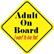 StickerTalk Adult on Board I Want to Live Too Vinyl Sticker, 5 inches by 5 inches