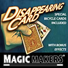Magic Makers Disappearing Card Trick - Special Bicycle Cards Included