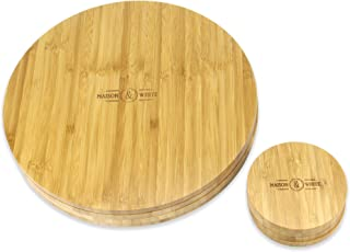 Set of 4 Circular Bamboo Placemats and Coasters   Dining table mats   Wooden Sets   Serveware   Dinner sets   M&W