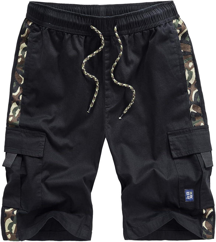 VtuAOL Women's Cargo Shorts Elastic Waist Comfy Cotton Loose Fit Shorts
