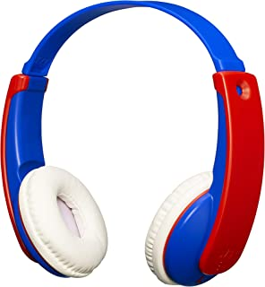 JVC HA-KD9BT-A-E Wireless Bluetooth Headphone with Volume Limiter for Kids, Blue/Red