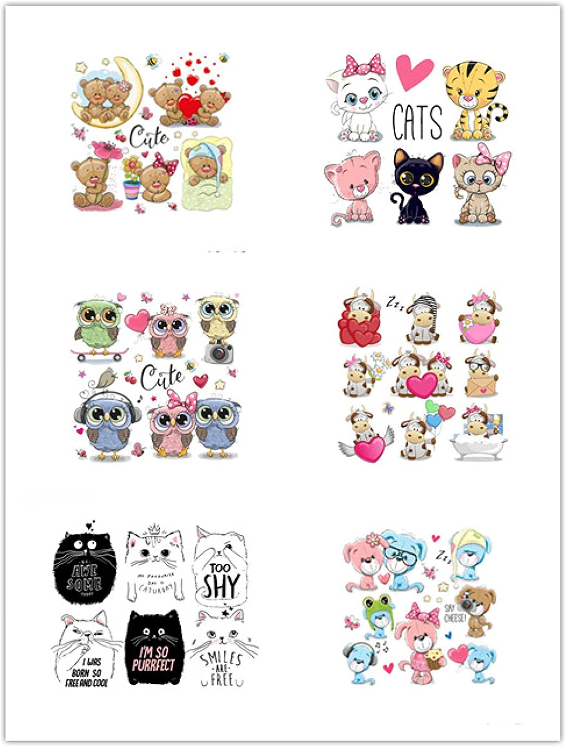 6pcs Heat Transfer Stickers Selling and selling for shipfree Bags Clothing A-L Jeans T-Shirt