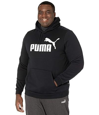PUMA Big Tall Essential Hoodie Fleece Big Logo (Cotton Black) Men