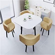 Dining Table Set for Small Spaces Kitchen Table, Leisure Table and Chair Combination Conference Room Office Negotiating Ta...