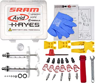 West Biking Professional Hydraulic Disc Brake Bleed Kit for All DOT Code5 Code R Juicy J3 J5 J7 Ultimate Elixir E1 E3 E5 E7 Er Xx Xo Formula R1 Rx K24 K18 Hayes Bngal Hope Quad Avid