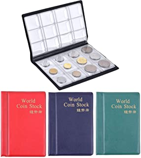 House of Quirk 120 Pockets Coin Holder Collection Coin Storage Small Album Book for Collectors, Money Penny Pocket - Assorted Color