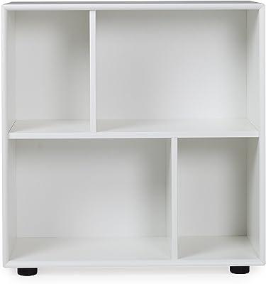 TENZO Z Designer Cube, Panneaux MDF, Blanc, 70 x 32 x 70 cm
