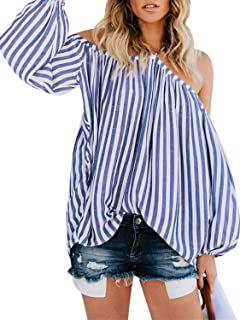 Best blue and white striped off the shoulder Reviews