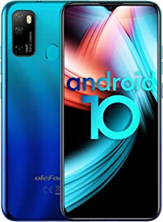 【2020】 Ulefone Note 9P Moviles Libre,4G Android 10 GO 6.52'' FHD+, Teléfono Móvil 4GB+64GB (SD 256GB),Triple Cámara16MP + 5MP +2MP, Batería 4500mAh Smartphone, Face ID/GPS/OTG-Azul [Version Española]