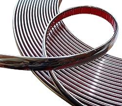 Aerzetix: 15mm 4.5m Bande Baguette adhésive Couleur Chrome Nickel Argent