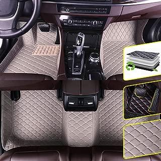 DBL Custom Car Floor Mats for BMW 3 Series GT F30 F31 F34 320i 328i 335i 2011-2019 GranTurismo Waterproof Non-Slip Leather Carpets Automotive Interior Accessories 1 Set Gray