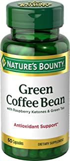 Nature's Bounty Green Coffee Bean with Raspberry Ketones & Green Tea Capsules, 60 ea