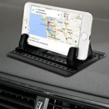 Car Phone Holder, Vansky Silicone Anti-Slip Hands Free Desk Phone Stand Car Phone Mount Compatible with iPhone 11 XR Samsung Huawei Smartphone GPS