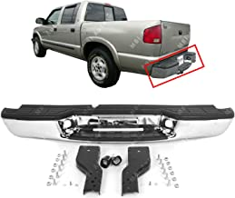 MBI AUTO - Chrome, Steel Rear Bumper Assembly for 1998-2004 Chevy S10 & GMC Sonoma 98-04, GM1101102