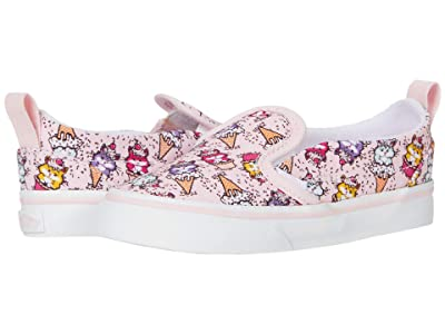 Vans Kids Slip-On V (Infant/Toddler) ((Kitty Cakes) Blushing Bride/True White) Girls Shoes