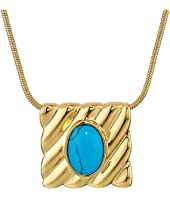 House of Harlow 1960 - Ribbed Valda Pendant Necklace