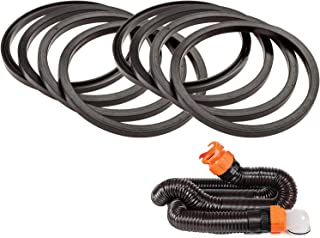 Mission Automotive 8-Pack of RV Sewer Hose Replacement Gaskets - Equivalent to 39834 - Rubber Seal Fittings Compatible with Camco RhinoFLEX/Revolution/Easy-Slip