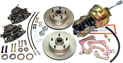 Compatible With 1955-1957 Chevrolet Chevy Front Power Disc Brake Conversion Upper & Lower Kit Set (KIT)