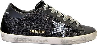 [GOLDEN GOOSE] レディース G34WS590M80 ブラック 革 運動靴