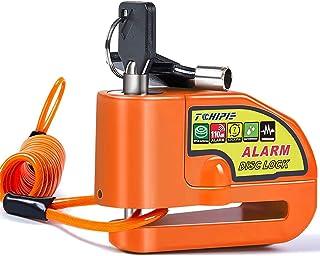 Trava de freio de disco de alarme para motocicleta Tchipie, trava de disco de segurança antifurto para rotor de freio de 7...