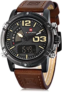 Navi Force Casual Watch For Men Analog Genuine Leather - NF9095M