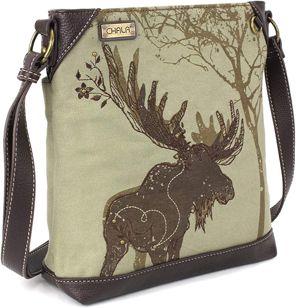 Chala Handbag Safari Canvas Mid-Size 1 year warranty Omaha Mall Crossbody Messenger Bag