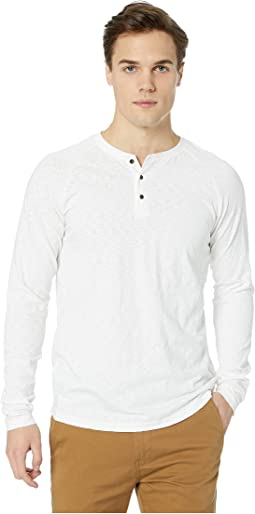 Long Sleeve Grandad T-Shirt in Slub Jersey Quality