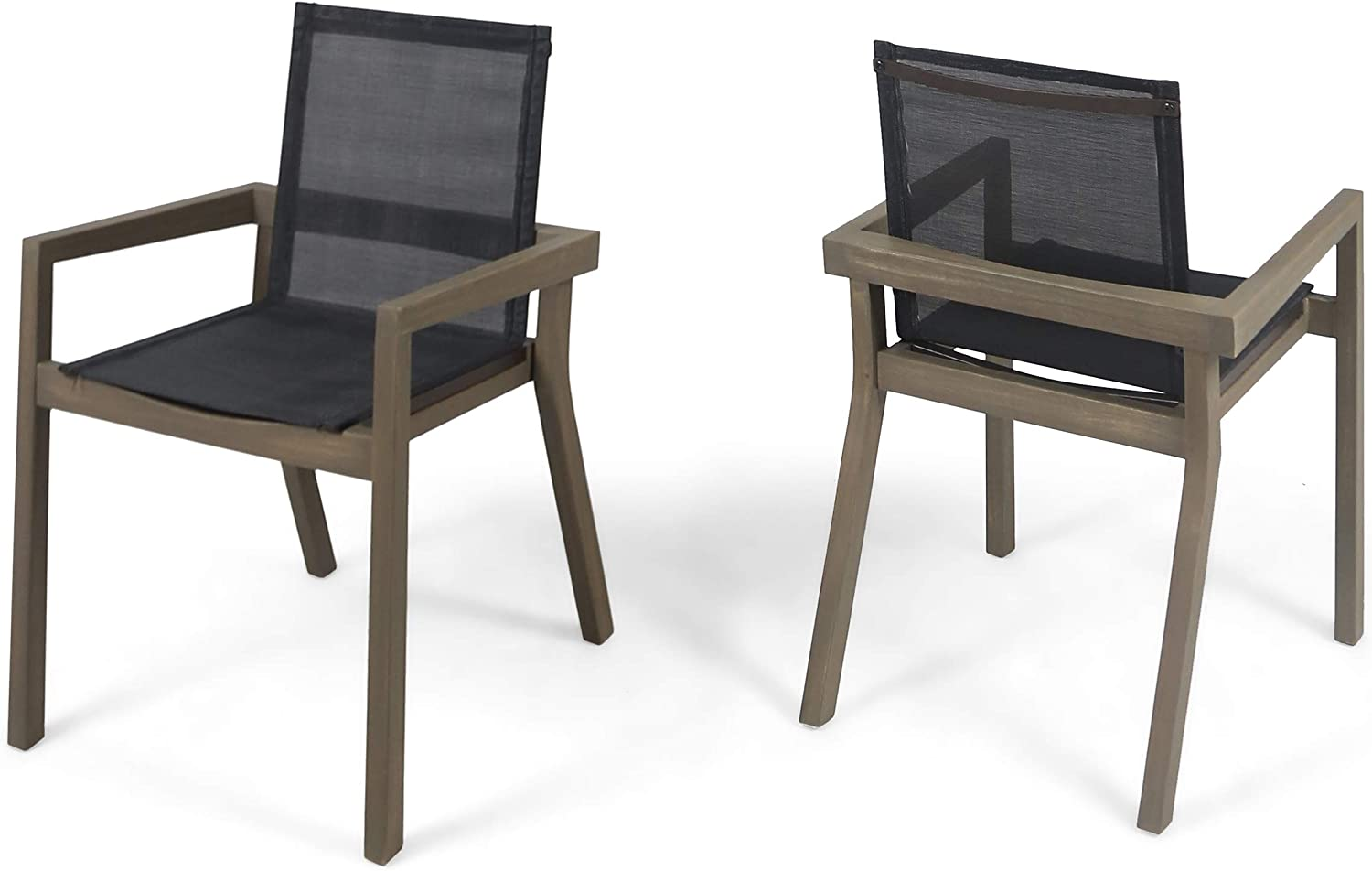 Weekly update Great Deal Furniture Jimmy Outdoor Acacia Dining Max 88% OFF Wood and C Mesh