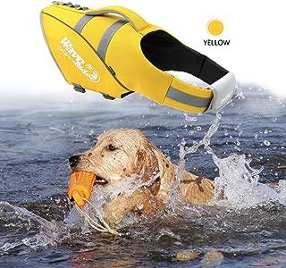 BOCHO Wave Rider's Reflective Dog LifeJacket, Super Buoyancy EVA Lining ,Adjustable Dog Safety Vest