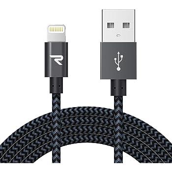 Rampow iPhoneライトニングケーブル 【iPhone対応 / Apple MFi認証】 黒 2m 高耐久ナイロン編み製