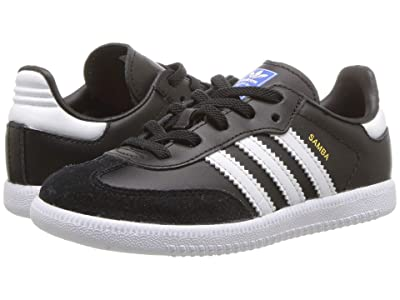 adidas Originals Kids Samba OG EL I (Toddler) (Black/White) Kids Shoes