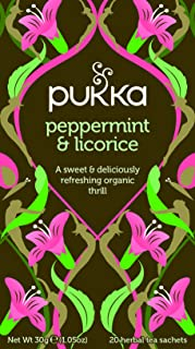 Pukka Peppermint & Licorice Herbal Tea 20 Count