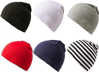 Amandir 6 Packs Toddler Baby Hat Infant Unisex Cotton Soft Cute Knit Newborn Kids Beanies Caps for Boys Girls