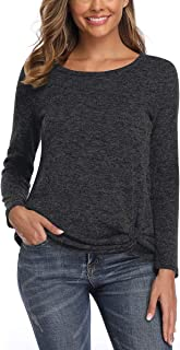 Women Long Sleeve Scoop Neck Basic Casual Sweater Pullover