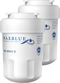 Max blue NSF 53&42 Certified MWF Refrigerator Water Filter, Replacement for GE SmartWater, MWFP, MWFA, GWF, HDX FMG-1, WFC1201, GSE25GSHECSS, PC75009, RWF1060, 197D6321P006, Pack of 2