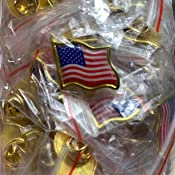 Wavy American Flag United States USA Lapel Hat Election Pin Wholesale Lot 100