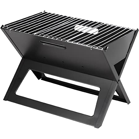 Vaorwne Folding Campfire Camp Grill Camping Grill Charcoal Mesh Barbecue Grill for Outdoor Camping Cooking Hiking Party