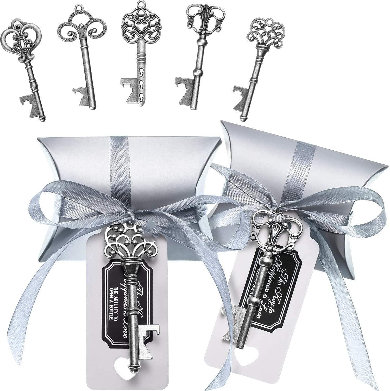 100 Sets Vintage Key Bottle Souvenir Gift Openers Favor mart Wedding Max 73% OFF