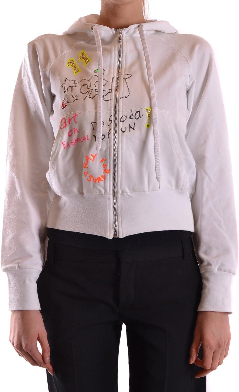 Iceberg EZBC188002 Women's White Cotton Sweatshirt