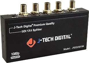 J-Tech Digital Premium Quality SDI Splitter 1x4 Supports SD-SDI, HD-SDI, 3G-SDI up to 1320 Ft (1 Input and 4 outputs)