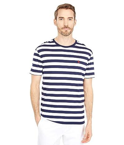 Polo Ralph Lauren Crew Neck T-Shirt (White/French Navy) Men