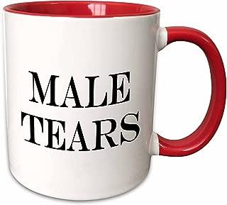 3dRose 193465_5 Male Tears Two Tone Mug, 11 oz, Red