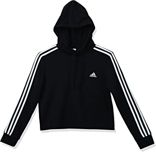 Women's Essentials 3-Stripes French Terry Cropped Hoodie
