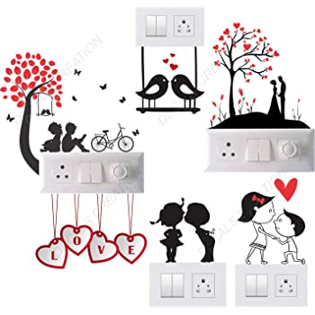 Decals Creation Vinyl Wall Switch Board Sticker, 23.62 x 48.03 x 0.39 Inches, Multicolour