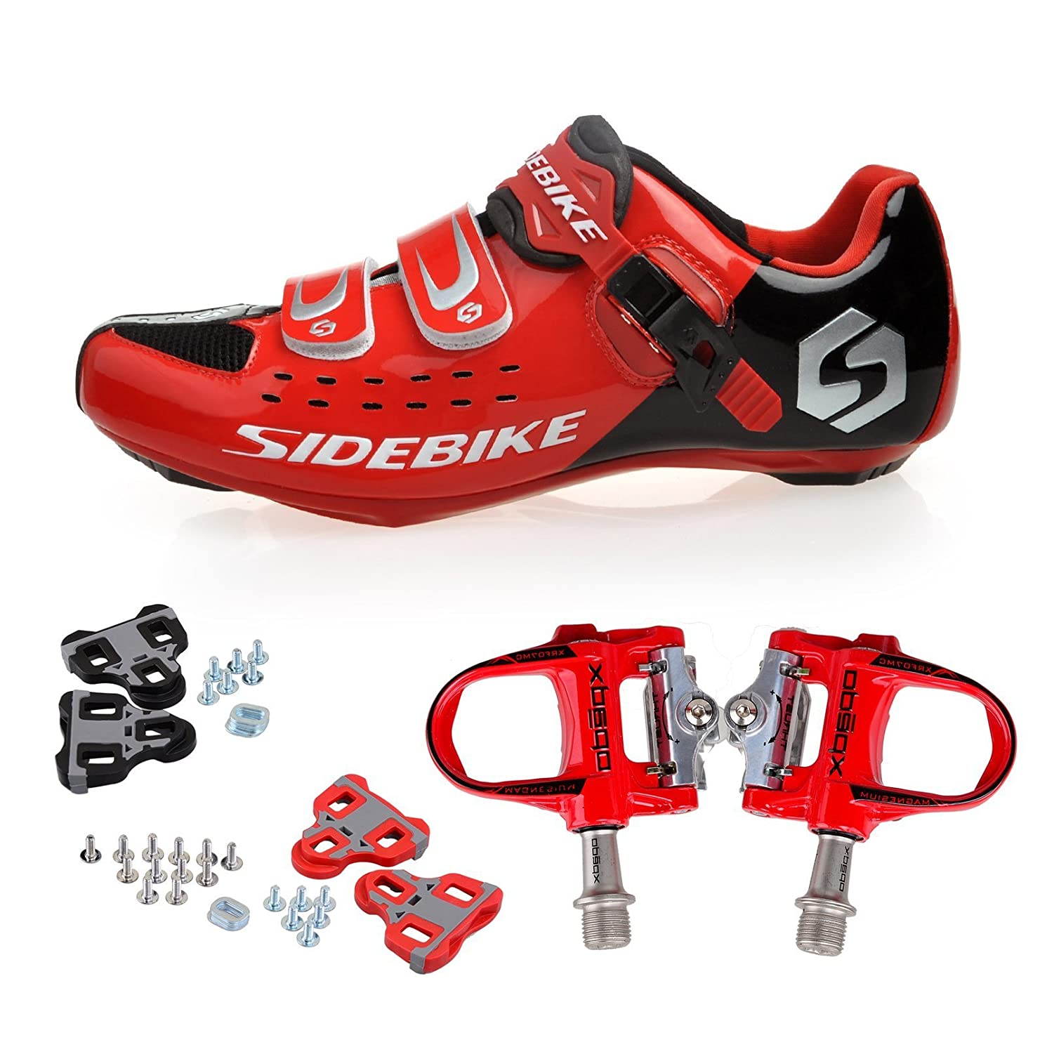 KUKOME Sidebike Road Cycling Shoes & Pedals in Various Sizes and Colors