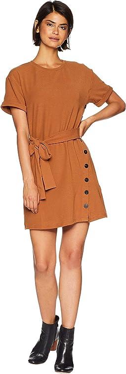 Button Side Knit Dress