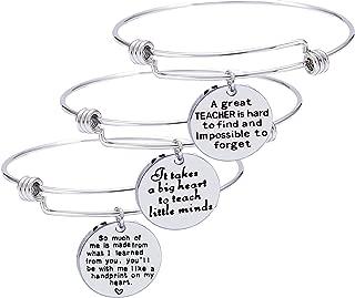 Pack of 3 Teacher Bangles Gifts for Teacher Open School Gifts for Teachers Thank You Bangle Bracelets