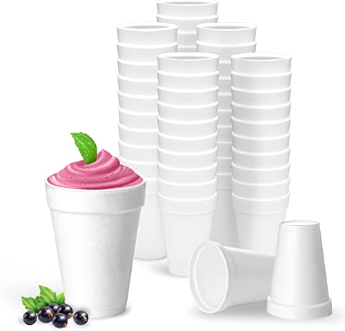 discount 16 Oz outlet sale Disposable Styrofoam Cups (50 Pack), White Foam Cup Insulates Hot & Cold popular Beverages, Made in the USA, To-Go Cups - for Coffee, Tea, Hot Cocoa, Soup, Broth, Smoothie, Soda, Juice online sale