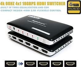 Zettaguard ZW412 4x1 HDMI 18Gbps Switcher 4K X 2K 3D 60HZ with HDCP 2.2